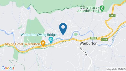 Annie's Escape in Warburton Map
