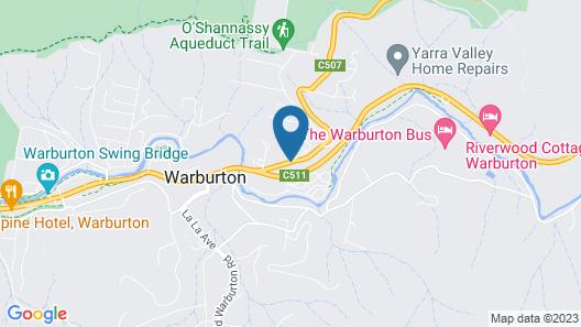 Warburton Motel Map