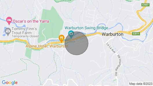 Birdwood House, Warburton Map
