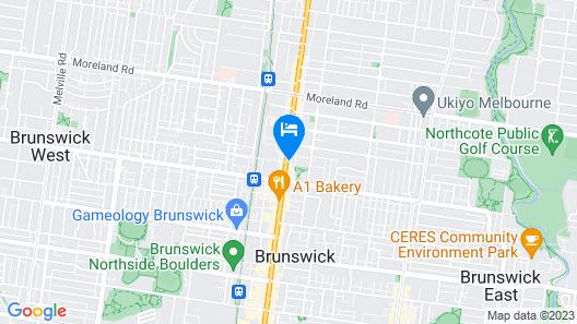 Artel Apartment Hotel Melbourne Map