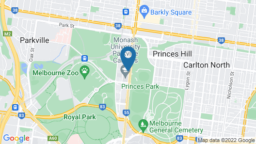 Quality Hotel Carlton Map