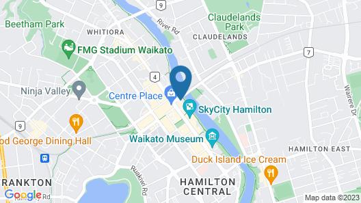 ibis Hamilton Tainui Map