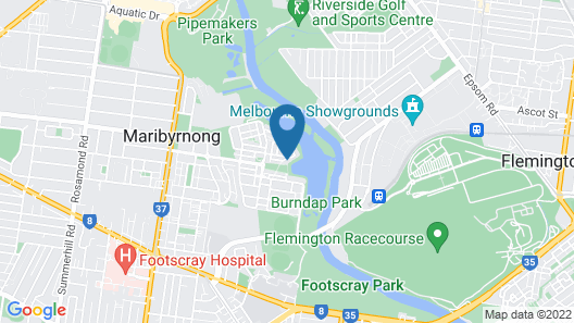 Marina View Apartment on the Maribyrnong River, Melbourne Map