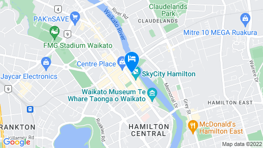 Novotel Tainui Hamilton Map