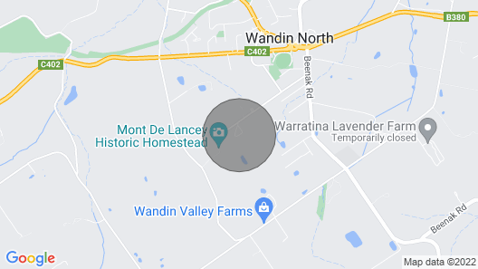 Eagles View Cottage - Yarra Valley Map