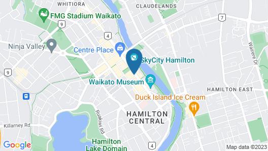 Ramada By Wyndham Hamilton City Center Map