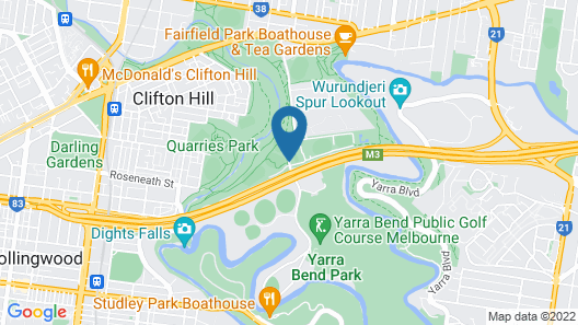 Yarra House Campus Summer Stays Map