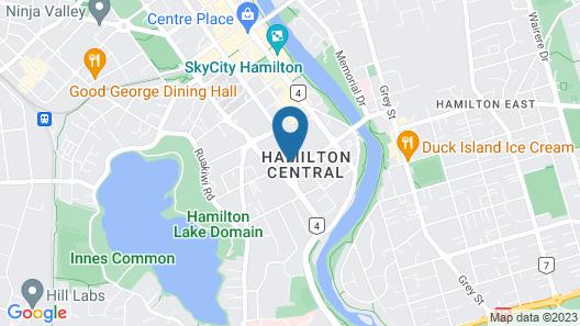 Ventura Inn & Suites Hamilton Map
