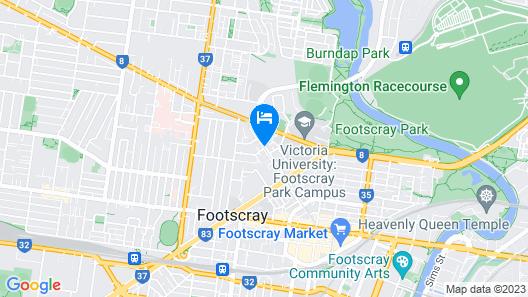 Footscray Motor Inn Map