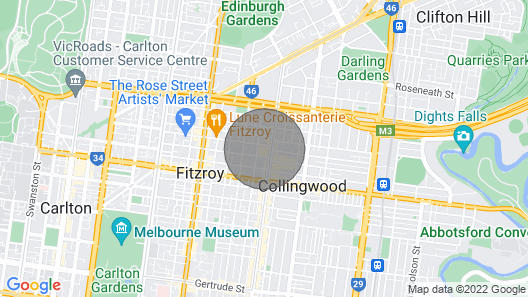 Isla, 2BDR Fitzroy Apartment Map