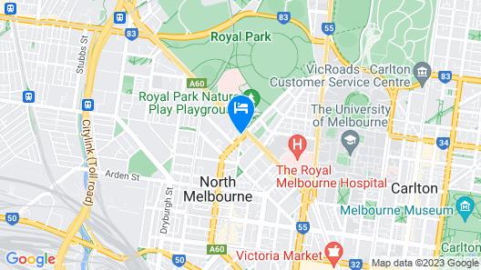 Mercure North Melbourne Map