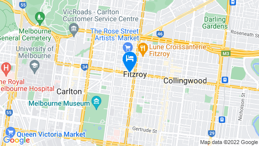Tyrian Serviced Apartments Fitzroy Map