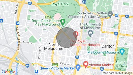 GEORGE, 1BDR North Melbourne Apartment Map