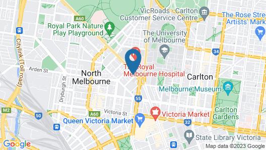 Luxurious Blackwood Inn North Melbourne Map