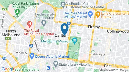 Best Western Plus Travel Inn Hotel Map