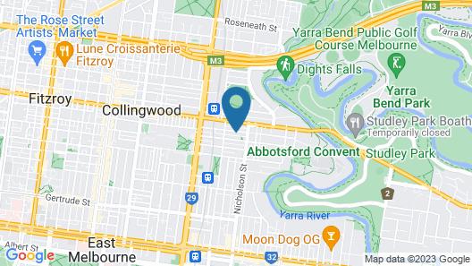 Cosy Melbourne Apartment Close To CBD Map