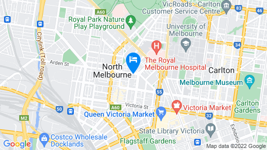 Arden Motel North Melbourne Pty Ltd Map