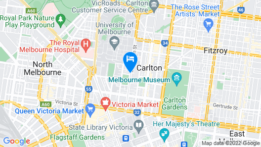 The Park Hotel Melbourne Map