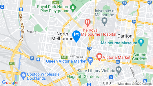 RNR Serviced Apartments North Melbourne Map