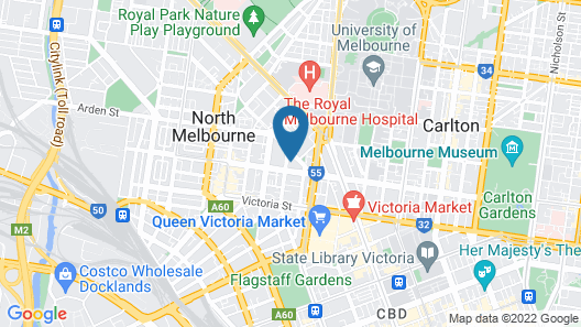 Melbourne Metro YHA - Hostel Map