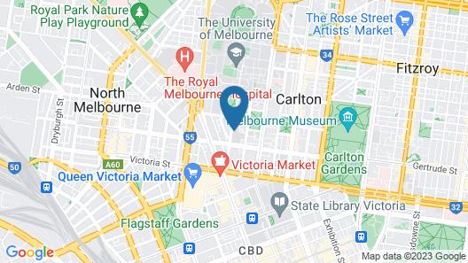 Student Village Melbourne Map