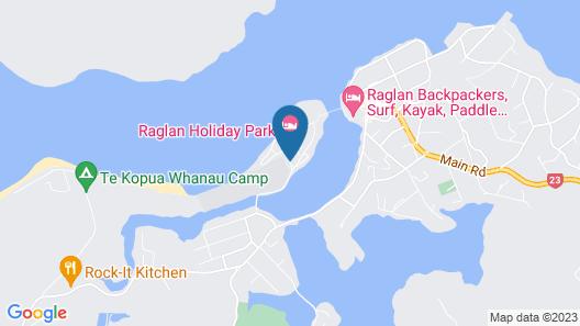 Raglan Holiday Park Map
