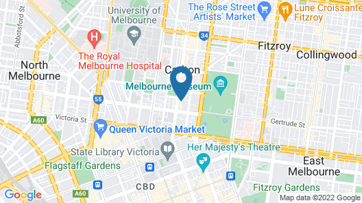 Melbourne Carlton Central Apartment Hotel Map