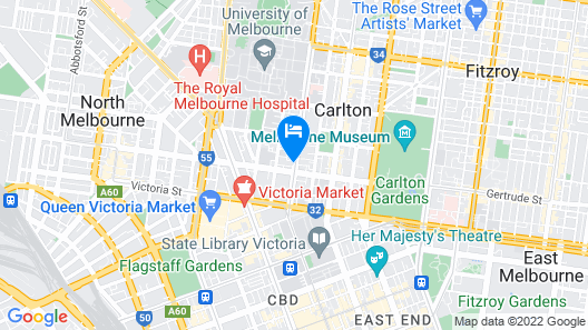 Essence Hotel Carlton Map