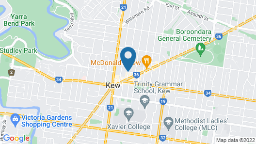 Aligned Corporate Residences Kew Map
