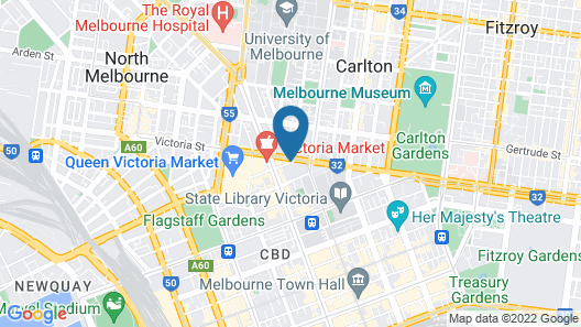 ibis Melbourne Hotel and Apartments Map