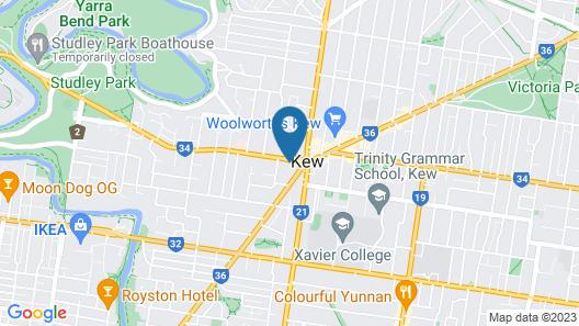 Junction Kew Apartments Map