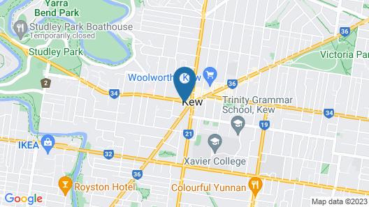 Comfy Kew Apartments Map