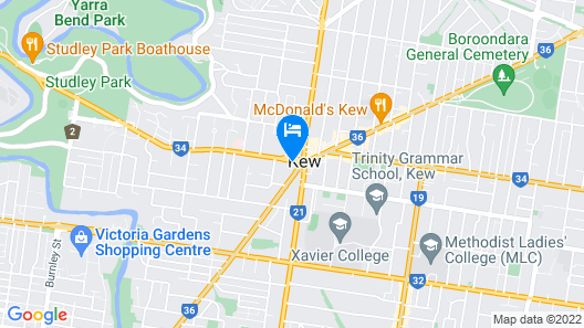 Comfy Kew Apartments Map