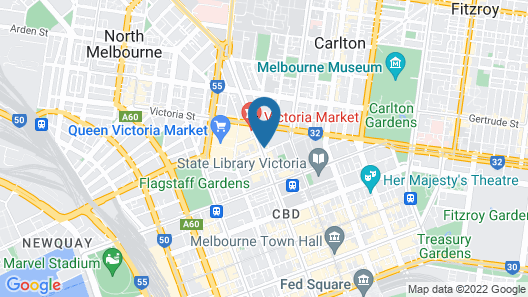 Victoria One 2 Bedroom, 2 Bathroom Apartment Map