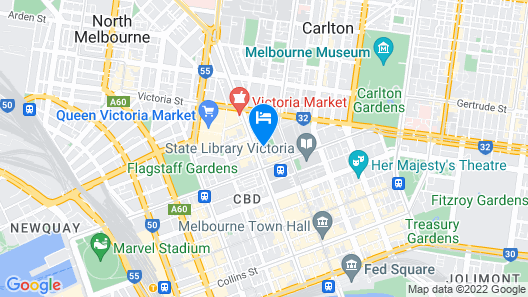 Avani Melbourne Central Residences Map