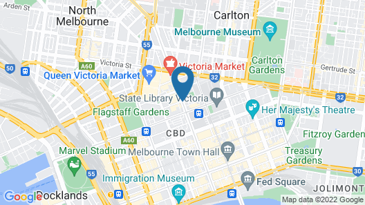 Empire Melbourne Central by Apartments of Melbourne Map