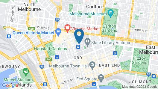 Brady Hotel Central Melbourne Map