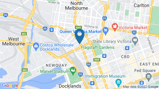 Nate's Place Backpackers Melbourne Map