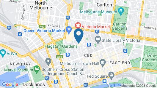 Apartments Melbourne Domain - City Lofts Map