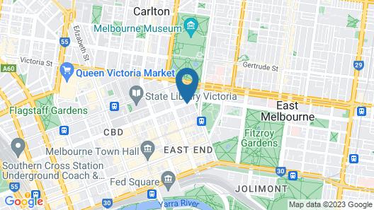Oaks Melbourne on Lonsdale Suites Map