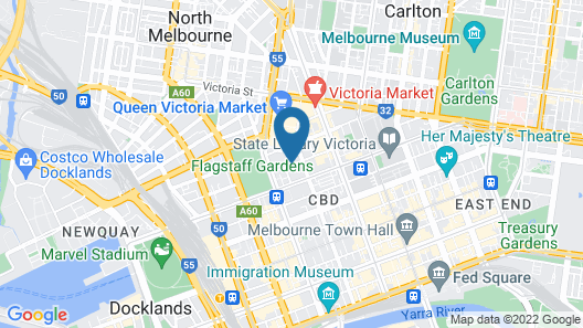Nomads Melbourne Backpackers Map