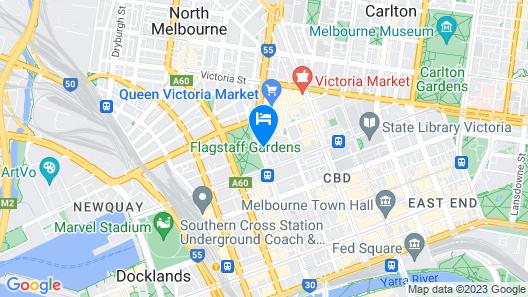 Radisson on Flagstaff Gardens Melbourne Map