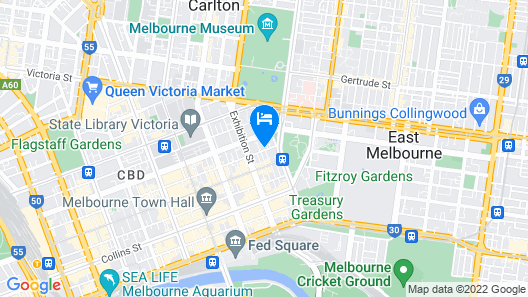 Coppin Apartments on Little Bourke Map