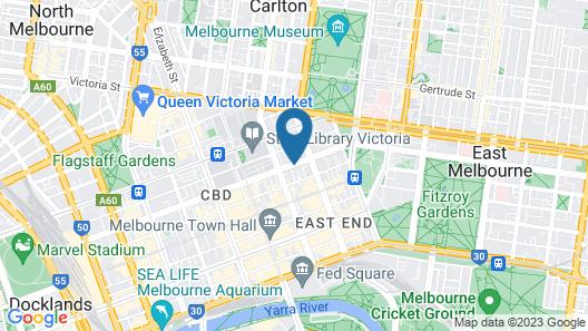 Hotel Grand Chancellor Melbourne Map
