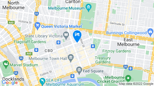 Hotel Grand Chancellor Melbourne Map