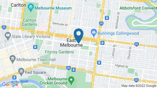 Tribeca Serviced Apartments Melbourne Map