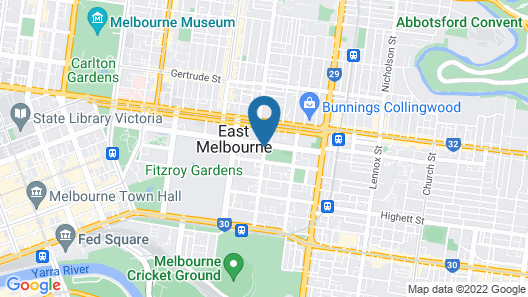 City Edge Serviced Apartments East Melbourne Map