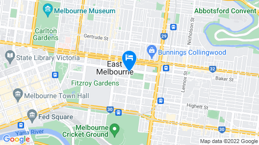 City Edge Serviced Apartments East Melbourne Map