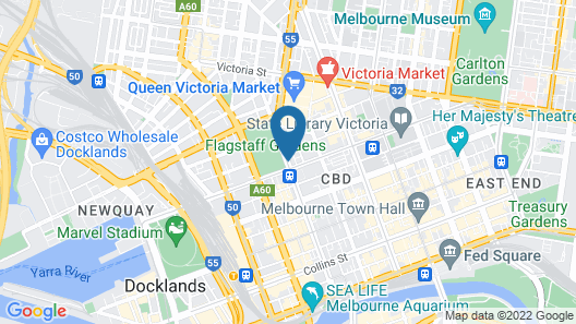 Oaks Melbourne on William Suites Map