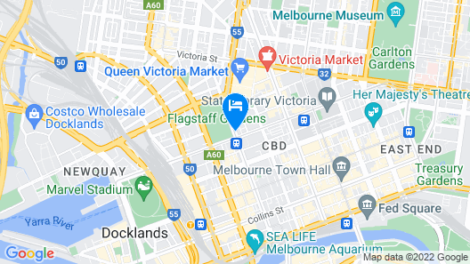 Oaks Melbourne on William Suites Map
